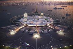 Футуристический концепт «Японского космодрома» для Токийского залива