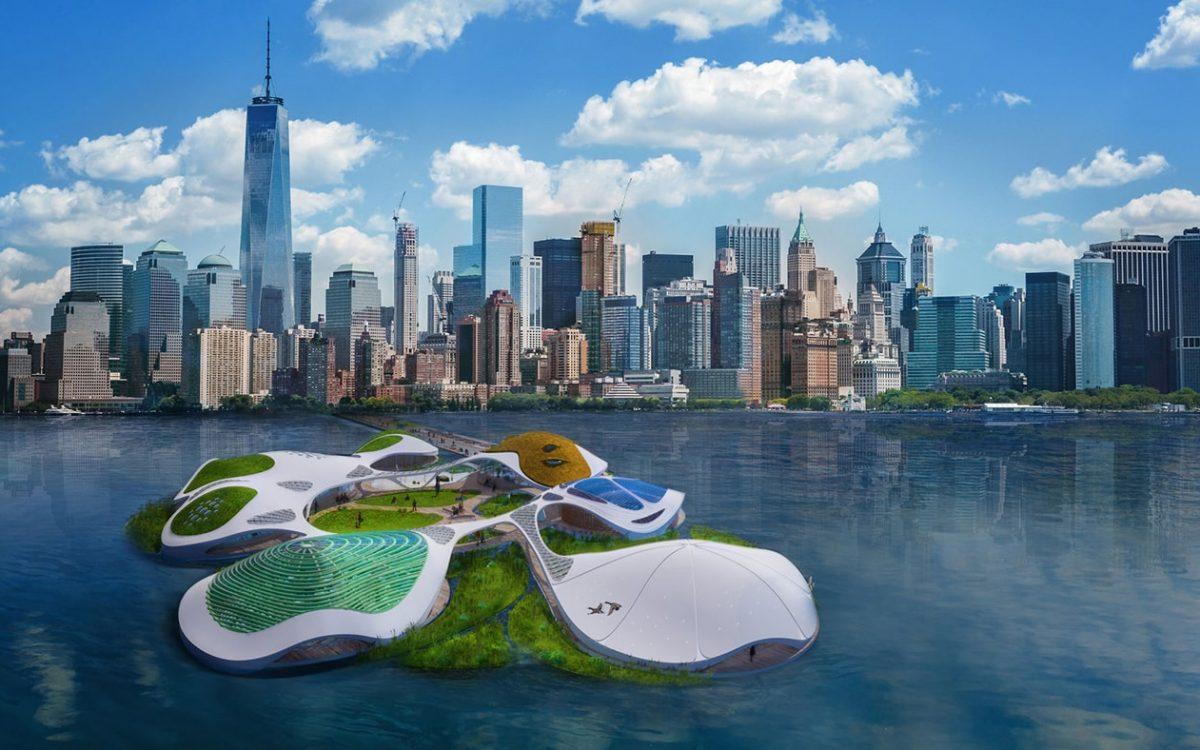 Плавучий кампус с естественным биотопом будет построен около Манхэттена