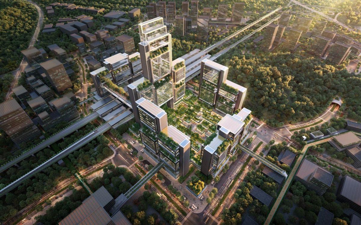 Над транспортным узлом Шэньчжэня вырастут покрытые зеленью небоскребы