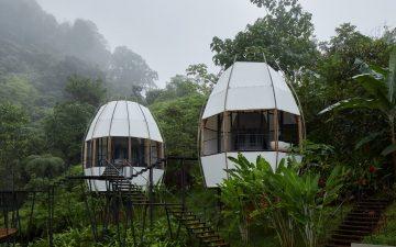 В джунглях Коста-Рики открылся курорт из «кокосовых» арт-вилл