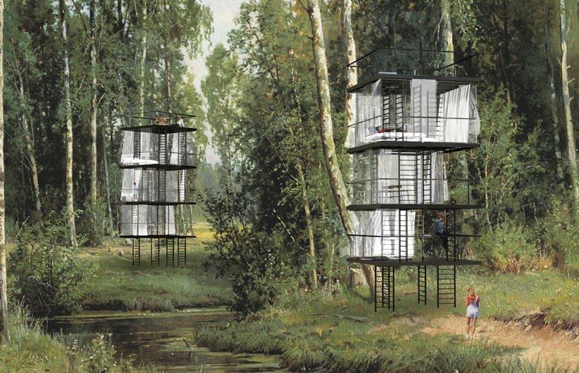 Модульные домики от EX FIGURA создают ощущение «жизни на деревьях»