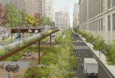 Расширение надземного парка позволит разгрузить поток пешеходов на оживленных улицах Нью-Йорка
