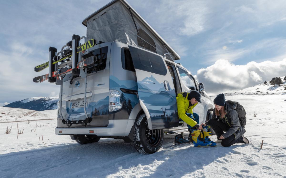 Электрический концепт Nissan: мобильная лыжная база на колесах