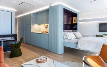 Майкл Чен спроектировал роскошные апартаменты в стиле модерн на борту крупнейшей в мире жилой яхты
