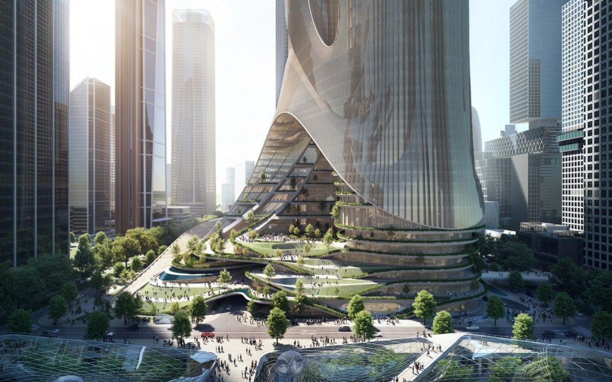 Панораму Шэньчжэня дополнят эффектные объединенные небоскребы