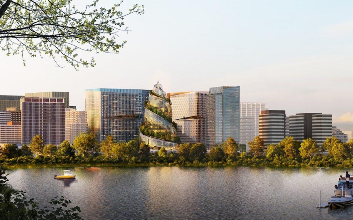 The Helix: спиральный, покрытый деревьями небоскреб для нового офиса Amazon в Арлингтоне