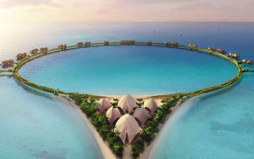 В Саудовской Аравии появится островной отель в форме кольца