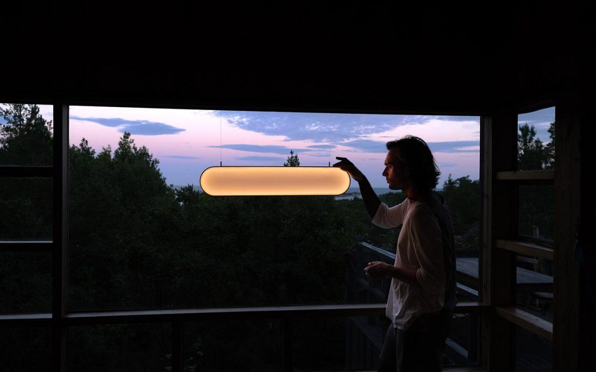 Sunne: светильник для дома, который собирает солнечную энергию через окно