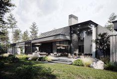 «Дом в Околице»: концептуальная элитная резиденция с внутренними садами в Подмосковье