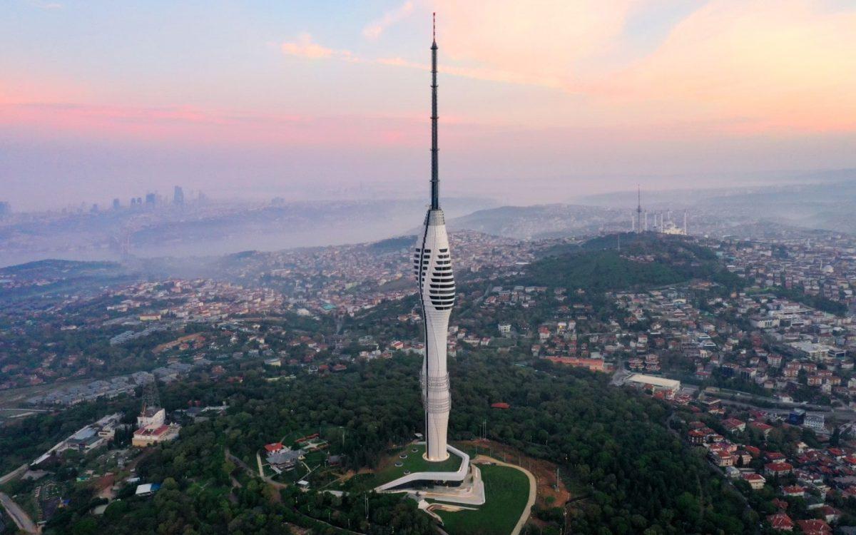 В Турции построена сверхвысокая телебашня с видом на место, где встречаются Европа и Азия
