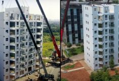 На видео показано, как можно построить 10-этажную высотку чуть больше чем за 1 день