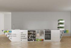 Кухонный блок с нулевыми отходами для экономного и экологически чистого приготовления еды